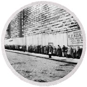 New York City Bread Line Round Beach Towel