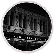 New York City Center Round Beach Towel