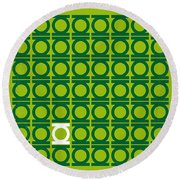 No120 My Green Lantern Minimal Movie Poster Round Beach Towel by Chungkong Art