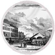 Norfolk, Virginia, 1856 Round Beach Towel