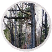 North Texas Trees Round Beach Towel