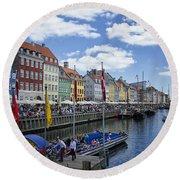 Nyhavn - Copenhagen Denmark Round Beach Towel