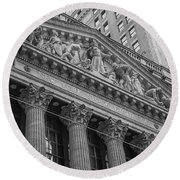 Nyse  New York Stock Exchange Wall Street Round Beach Towel