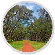 Oak Alley 3 Round Beach Towel