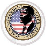 Obama-1 Round Beach Towel