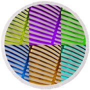 Observe Full Color Round Beach Towel