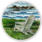 Ocean Chair Round Beach Towel