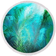 Ocean Plants Round Beach Towel