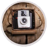 Old Camera Round Beach Towel