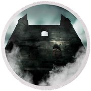Old Haunted Castle Round Beach Towel