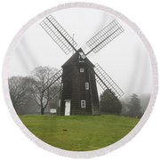 Old Hook Mill Round Beach Towel