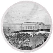 Old Lifeboat Station Tenby Round Beach Towel