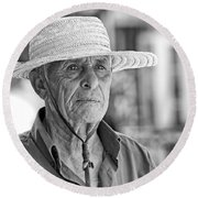 Old Man Round Beach Towel