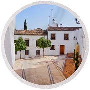 Old Town In Cordoba Round Beach Towel