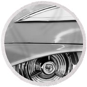Oldsmobile 98 Wheel Emblem Round Beach Towel