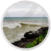 On Shore Round Beach Towel