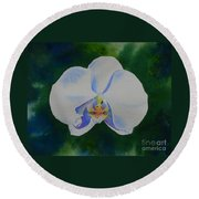 Orchid Dance 2 Round Beach Towel
