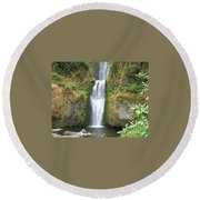Oregon Waterfall Round Beach Towel