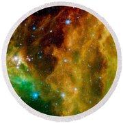 Orion-nebula Round Beach Towel