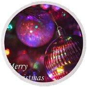 Ornaments-2160-merrychristmas Round Beach Towel