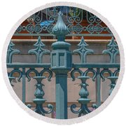 Ornate Fence Round Beach Towel
