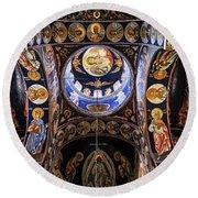 Orthodox Church Interior Round Beach Towel by Elena Elisseeva