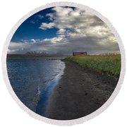 Osar Beach Iceland Round Beach Towel
