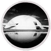 Oscar Niemeyer Architecture- Brazil Round Beach Towel