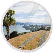 Otago Peninsula Coastal Landscape Dunedin Nz Round Beach Towel