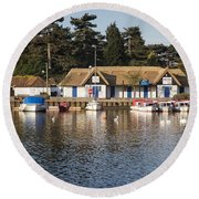 Oulton Broad Round Beach Towel