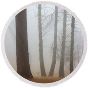 Out Of The Fog Round Beach Towel