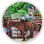 Out The Gate Round Beach Towel