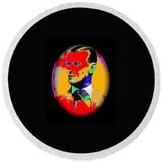 Outlaw Gang Leader Train Bank Robber Murderer Jesse James Collage 1875-2009 Round Beach Towel
