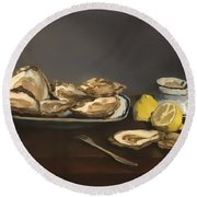 Oysters Round Beach Towel