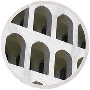 Palazzo Della Civilta' Romana Round Beach Towel
