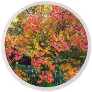 Pallette Of Fall Colors Round Beach Towel