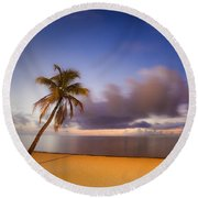 Palm Round Beach Towel