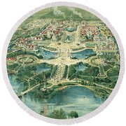 Pan-american Exposition Round Beach Towel