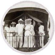 Panama Roosevelt, C1906 Round Beach Towel