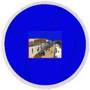 Pancho Villa Captures Juarez Chihuahua May 8 1911 Color Added 2012 Round Beach Towel