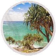 Pandanus Palm Tree Round Beach Towel