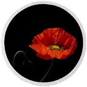 Papaver Round Beach Towel