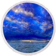 Paradise Is Blue Round Beach Towel