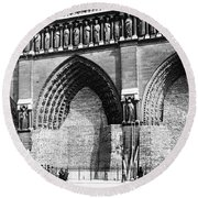 Paris Notre Dame, 1918 Round Beach Towel