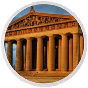 Parthenon Round Beach Towel by Dan Sproul