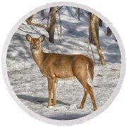 Passing By Round Beach Towel