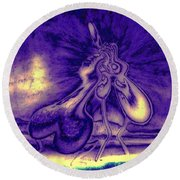 Passion In The Night Round Beach Towel