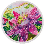 Passionflower Party Round Beach Towel