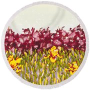 Passions Rise Round Beach Towel