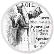 Patent Medicine, 1894 Round Beach Towel
